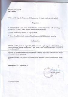 Lovas István: Nyílt levél Dr. Mikó Gergely kollégiumvezető bírónak