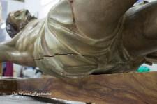 240 éves üzenetet találtak egy Krisztus-szobor belsejében