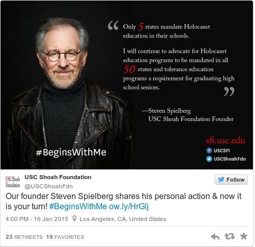 Spielberg figyelmeztet: jön az újabb holokauszt!