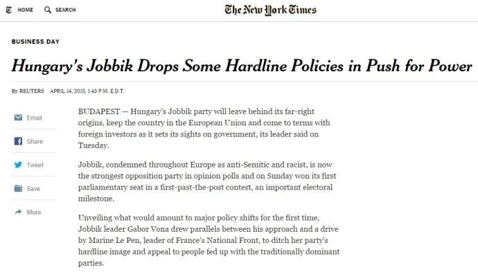 """Vona a Reutersnek: a Le Pen-lány mintájára akar szakítani a """"szélsőséges múlttal"""", kilépés helyett pedig """"enyhítené az EU-val szembeni ellenérzéseket"""""""