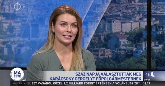 A Karácsony-interjús riporternő a rákosmentei fideszes alpolgármester felesége