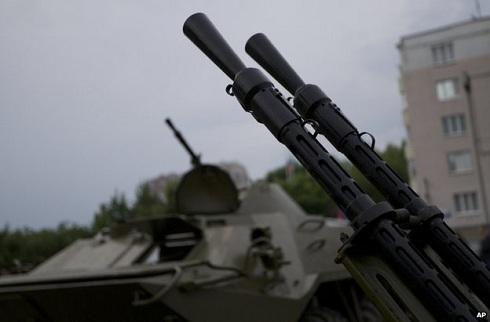 Ukrán polgárháború- Harci gépek és páncélosok Donyeck ellen
