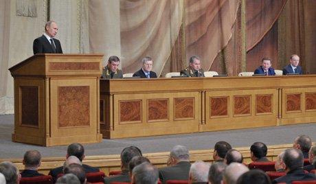 Putyin holnap az orosz védelmi tárca testületének bővített ülését fogja vezetni