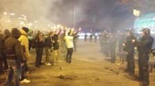 Fradi – Újpest meccs: Összecsaptak a rendőrök és a szurkolók