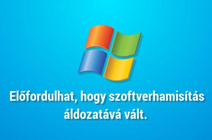 Legálisan aktiváltad a Windowsodat?