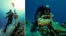Lélegzetelállító képeken az Égei-tengerben nemrég felfedezett ókori hajó rakománya