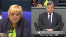 A Bundestag Zöldpofájú elnöknője nem engedte az egyperces csendet a 14-éves megkínzott, megerőszakolt lány emlékére