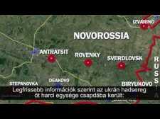 Az orosz határhoz szorították az ukrán hadsereg harci egységeit