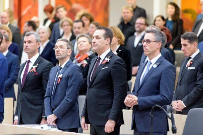 """""""Antiszemita jelek az osztrák parlamentben"""""""
