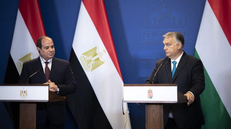 Egyiptomi elnök: Orbán Viktor jól látja és érti Egyiptom térségének ügyeit