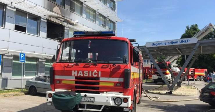 Ma délután tűz ütött ki a kassai L. Pasteur Egyetemi Kórházban