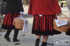 Húsvétvasárnapi ételszentelés Csíkszeredában