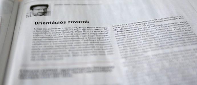 Borókai Gábor: Orientációs zavarok