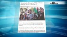 Európa-szerte a tüntető magyarokról cikkeznek