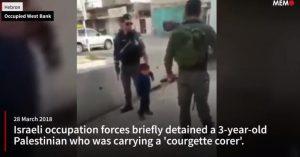 Három éves palesztin gyereket próbált letartóztatni az izraeli hadsereg (videó)