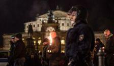 Neonáci tüntetés ellen tiltakoztak Drezdában