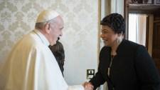 Ferenc pápa üzenetet küldött Martin Luther King napja alkalmából az emberjogi aktivista lányának