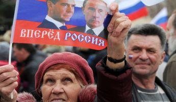 A krímiek elsöprő többsége az oroszok mellett