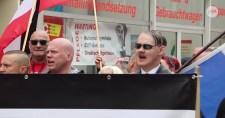 Ursula Haverbeck szabadon bocsátásért tüntettek Duisburg a német nemzetiszocialisták