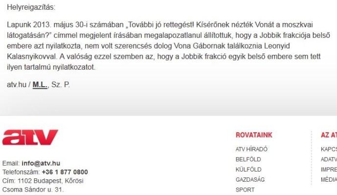 Ez még a zsidóknak is kínos lehet: az ATV-nek be kellett ismernie, hogy hazudott egy Jobbikkal kapcsolatos cikkében