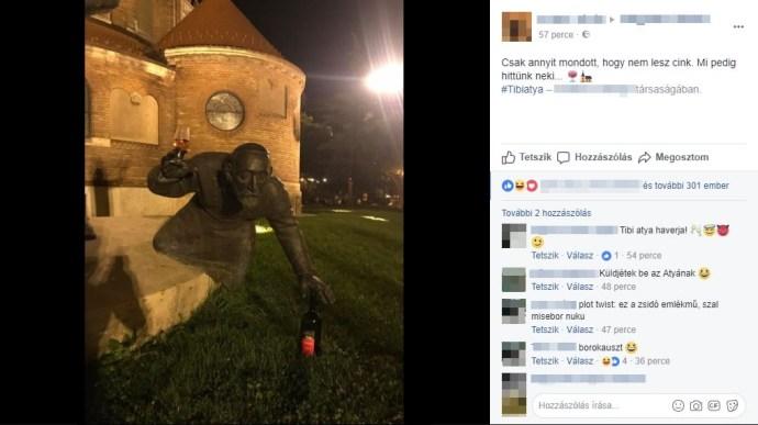 Borokauszt Szegeden: kiegészítették egy idősebb testvér holoszobrát, amit a sok náci a Facebookon viccesnek mert találni