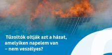Mi a teendő a napelmes rendszerrel tűz esetén?