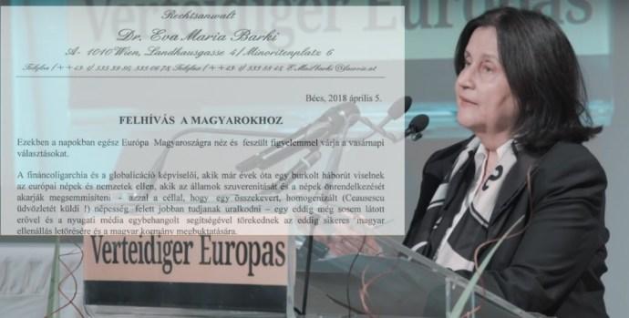 Éva Mária Barki: FELHÍVÁS A MAGYAROKHOZ