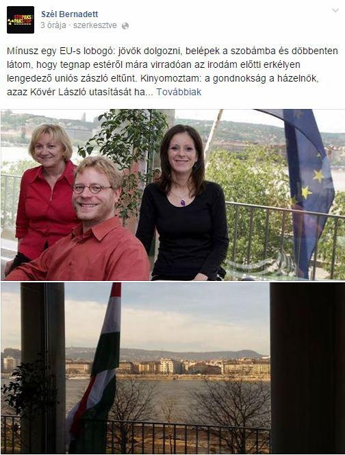 Kövér a Fehér Házról is leszedette az uniós zászlót, az LMP siratja