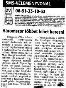 """""""Sok hazafi megismételné a holokausztot"""""""