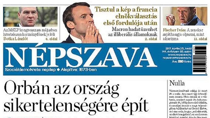 """Eljárás indítása a Médiahatóságnál a Népszava magyarokat genetikailag """"alattvalónak"""", stb. bélyegző cikke miatt"""