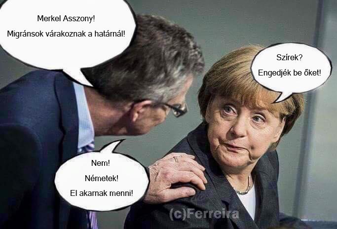 Eközben Merkelnél
