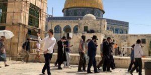 Ismét betörtek az Al-Aksza mecset előtti térre az izraeli telepesek