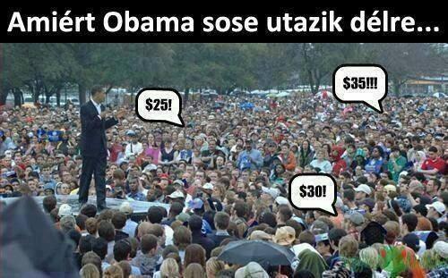 Ezért nem utazik délre Obama