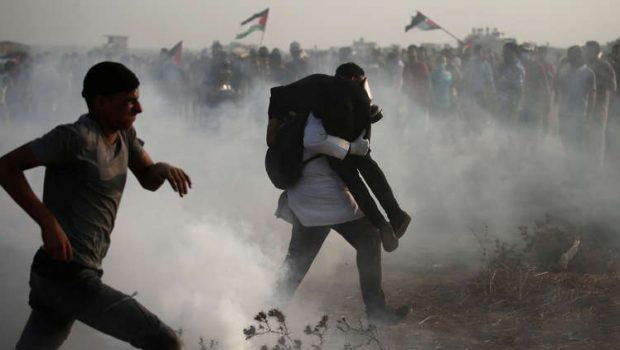 Hét palesztin tüntetők köztük két kiskorút lőttek le az izraeli katonák (videó)