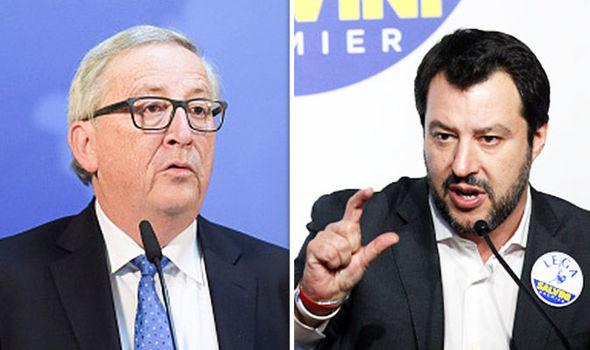 Salvini új olasz belügyminiszter belegyalogolt Juncker képébe
