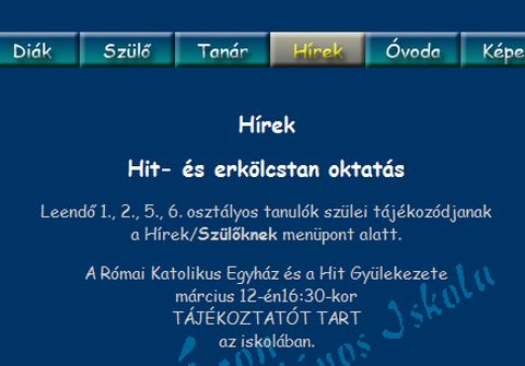 Köszönjük, Fidesz: hitgyülis métely a zalaapáti általános iskolában is