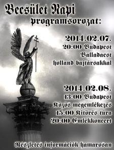 Becsület Napja 2014: Előzetes tájékoztató!