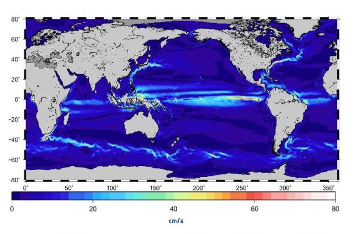 Óceáni áramlások az űrből