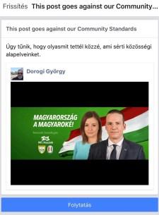 """""""Kuruc.info-szintű"""" Facebook-cenzúra sújtja a Mi Hazánkat: még Toroczkai arcképét és a párttal kapcsolatos bejegyzéseket is törölgetik"""