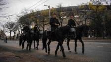Rendőri intézkedések a Puskás Arénánál – fotók