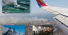 Egy kigyulladt hadihajó környezeti katasztrófával fenyeget