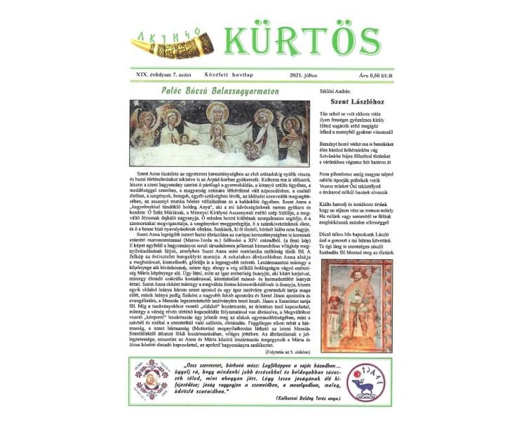 A júliusi neves ünnepekről is olvashatunk a Kürtösben