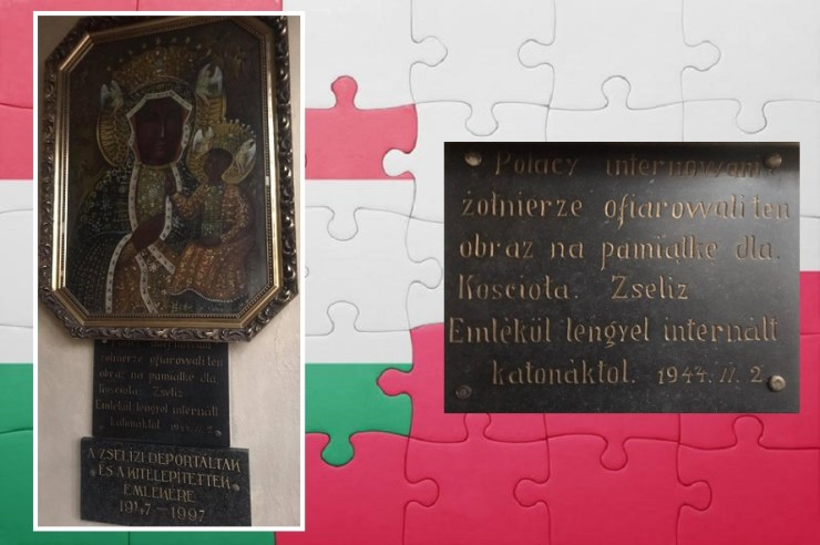 A zselízi Fekete Madonna kegykép és a lengyel internáltak kapcsolata