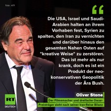 Oliver Stone iráni látogatása után olyat posztolt ki az USA-ról, Izraelről és Szaúd-Arábiáról, hogy…