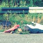 Az utcán hevernek a terroristák holttestei