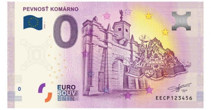 Április 25-től kapható a komáromi nulla eurós bankjegy