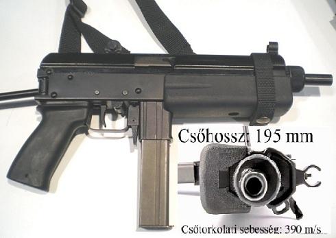 Magyar fejlesztésű Komondor géppisztoly 9-es verziója (KGP-9)