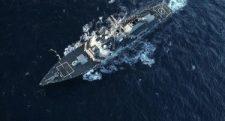 Amerikai romboló tart a szír partok felé