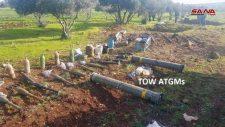A Szíriai Arab Hadsereg TOW típusú amerikai rakéták és más fegyverzet rejtekhelyét fedte fel Észak-Homszban