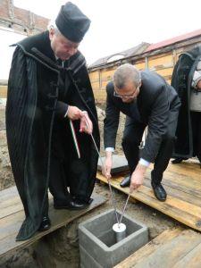 Letették a református püspöki székház alapkövét Nagyváradon